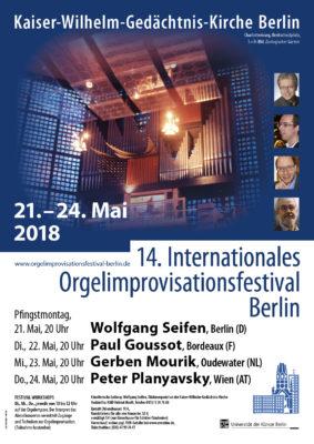 Internationales Orgelimprovisationsfestival Gedächtniskirche 2018 (Plakat)