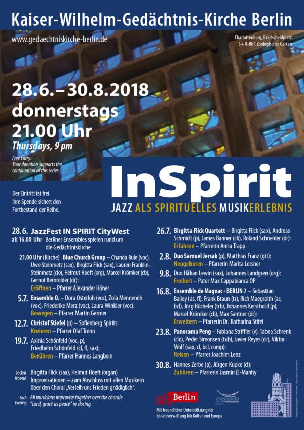 InSpirit 2018, Gedächtniskriche Berlin (Plakat)