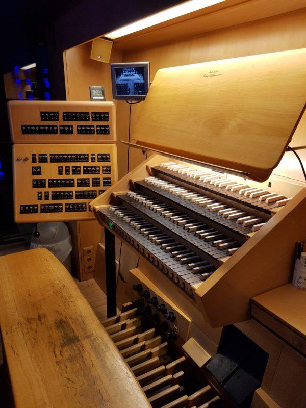 Orgelspieltisch Gedächtniskirche Berlin (23.09.2018)