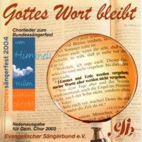 CD Notenausgaben 2003 u. Sängerfest 2004